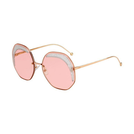 Women's 0358S Geometric Sunglasses // Rose Gold