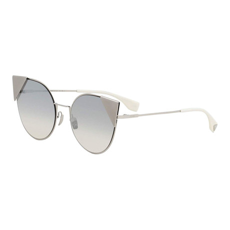 Fendi // Women's 190 Cat Eye Sunglasses // Silver