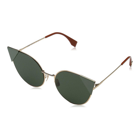 Women's 0190S Cat Eye Sunglasses // Gold + Green