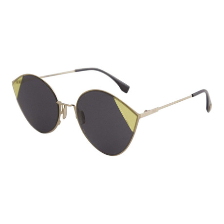 Women's Fashion Sunglasses // 60mm // Antique Gold Frame