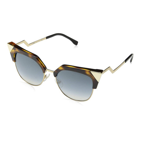 Women's 0149S Cat-Eye Sunglasses // Havana Gold + Blue