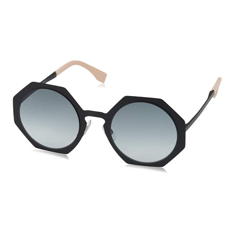 Fendi // Women's 0152S Geometric Sunglasses // Black