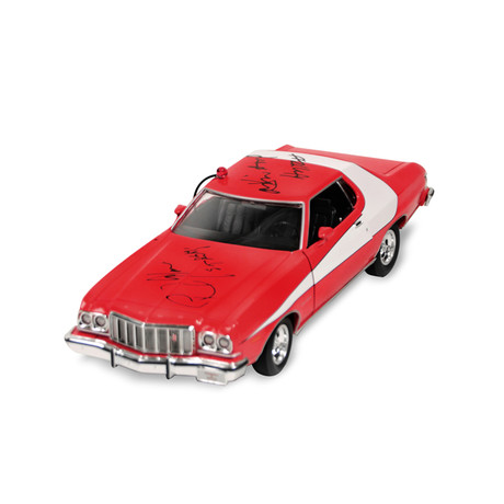 David Soul & Paul Michel Glaser Autographed 1:18 Scale Die-Cast Starsky & Hutch Gran Torino