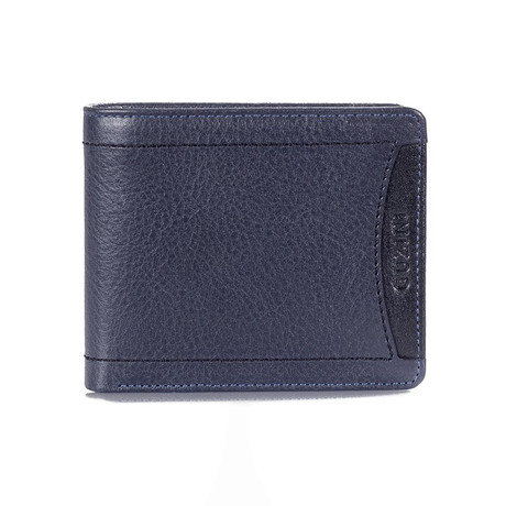 Contrast Stitch Wallet // Dark Blue