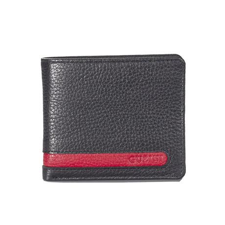 Bi-Fold Cut-Out Stitch Wallet // Black