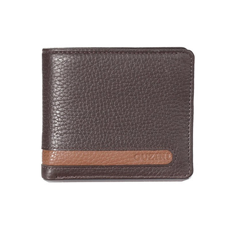 Bi-Fold Cut-Out Stitch Wallet // Brown
