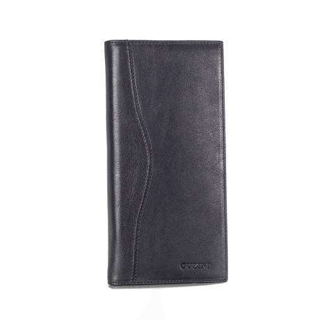 10-Card Checkbook Wallet // Black