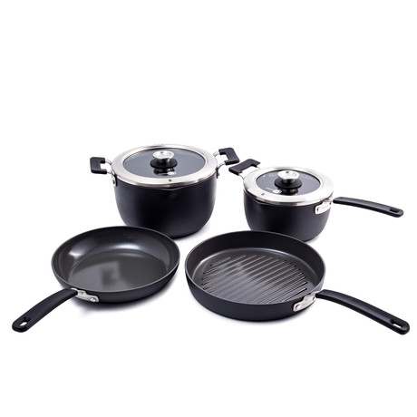 Levels // 6 Piece Stackable Ceramic Nonstick Set