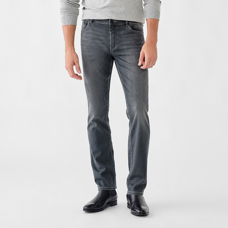 Russell Slim Straight Jeans // Light Gray (29WX30L)