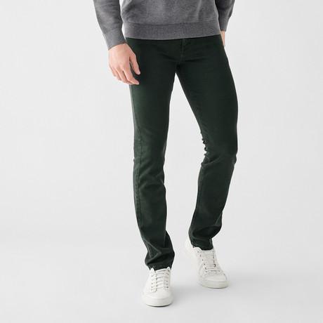 Russell Slim Straight Jeans // Dark Emerald (29WX30L)