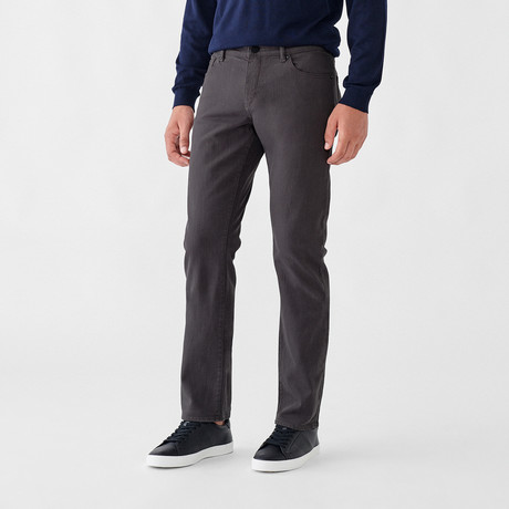 Russell Slim Straight Jeans // Charcoal (29WX30L)
