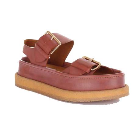 Stella McCartney // High Heel Buckle Sandals // Brown (US: 5)