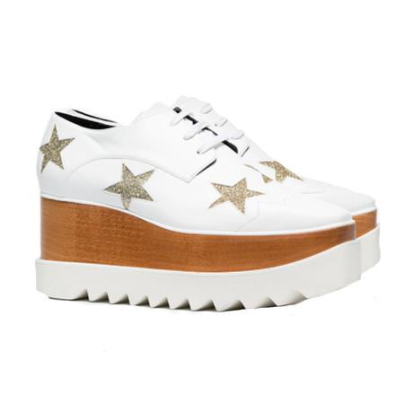 Stella McCartney // Indium Elyse Star Sneakers // White (US: 5)