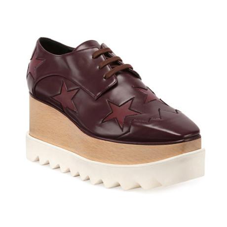 Stella McCartney // Indium Elyse Star Sneakers // Burgundy (US: 5)