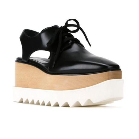 Stella McCartney // Elyse Cut-Out Sneakers // Black (US: 5)