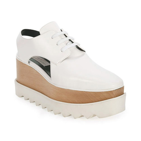 Stella McCartney // Elyse Cut-Out Sneakers // White (US: 5)