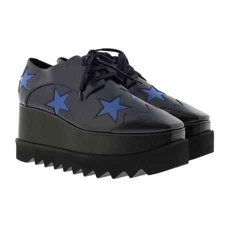 Stella McCartney // Indium Elyse Star Sneakers // Black (US: 4)