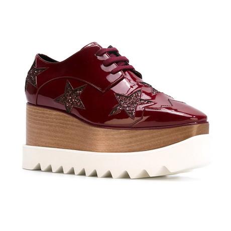 Stella McCartney // Indium Elyse Star Sneakers // Red (US: 5)