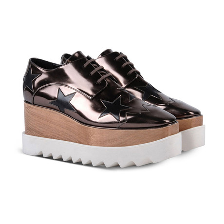Stella McCartney // Indium Elyse Star Sneakers // Brown (US: 5)