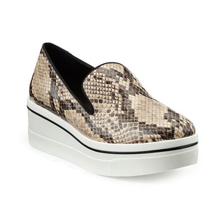 Stella McCartney // Low-Top Reptile Sneakers // Black + Brown (US: 5)