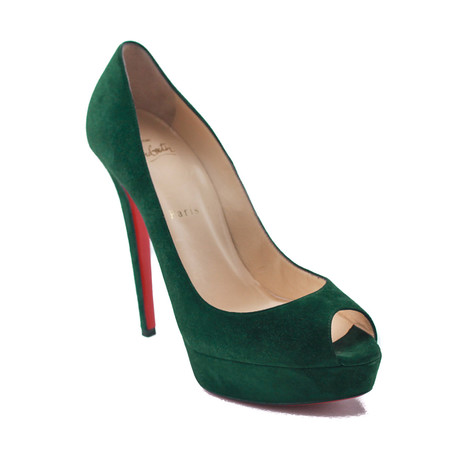 Christian Louboutin // Suede Pumps // Green (US: 5)