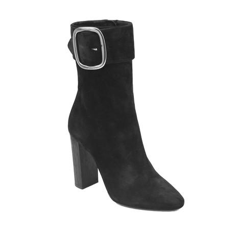 Saint Laurent // Suede Joplin High Heel Boots // Black (US: 5)