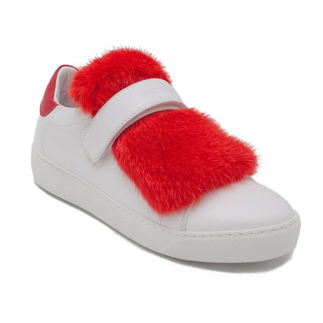 Moncler // Lucie Sneakers // Red + White (US: 5)