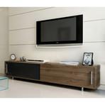 Classy TV Stand // Sliding Door (Black Walnut)