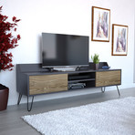 Siena TV Stand (Gray + Brown)