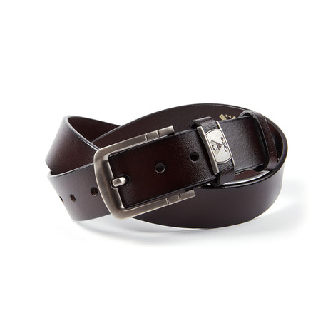 Gustavo Leather Belt // Brown