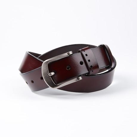 Kerry Leather Belt // Mahogany