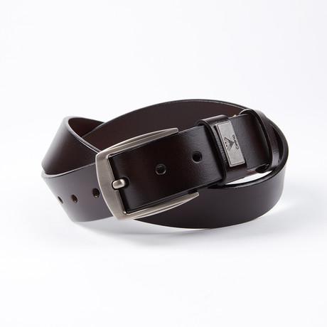 Tyree Leather Belt // Black