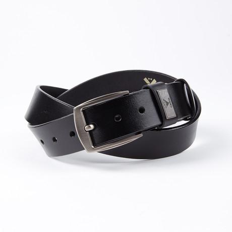 Omar Leather Belt // Black