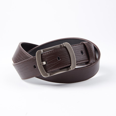 Reuben Leather Belt // Brown