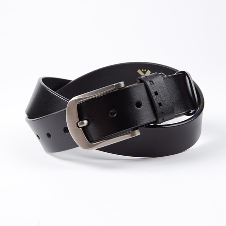 Allan Leather Belt // Black