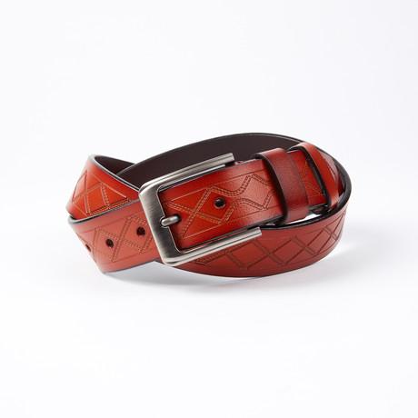Davis Leather Belt // Cognac