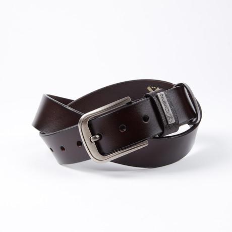 Errol Leather Belt // Dark Brown