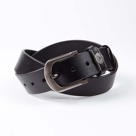 Milo Leather Belt // Black