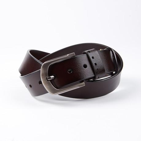 Normand Leather Belt // Dark Brown