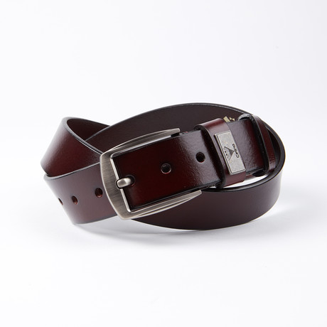 Lucius Leather Belt // Cherry Brown