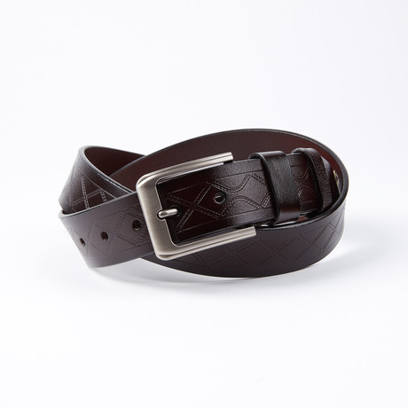 Santo Leather Belt // Dark Brown