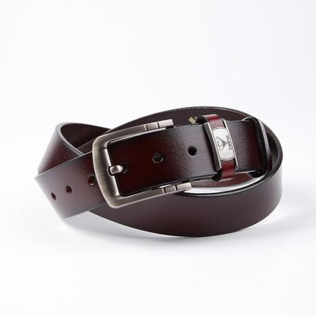 Rickie Leather Belt // Cherry Brown