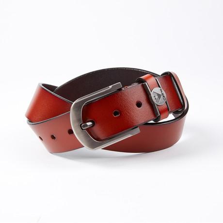 Carter Leather Belt // Cognac
