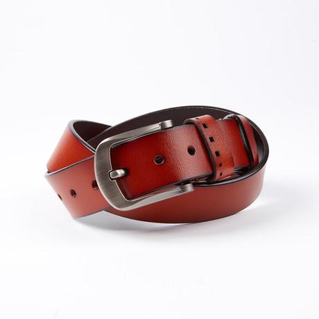 Drew Leather Belt // Cognac