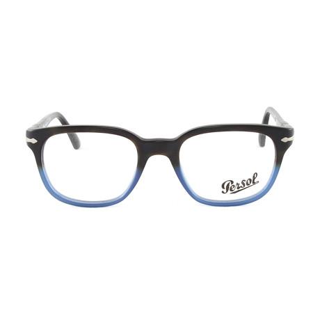 Men's Optical PO3093V // Dark Havana + Blue Gradient