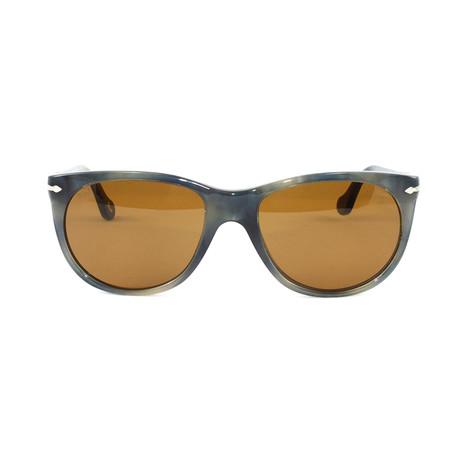 Unisex PO3097S Sunglasses // Striped Gray + Havana