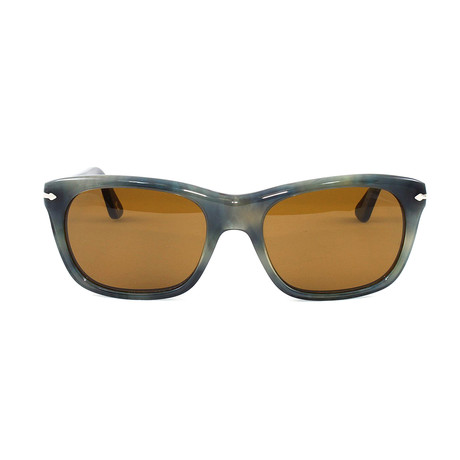 Men's PO3101S Sunglasses // Striped Gray + Havana