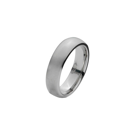 Titanium Matte Ring // 6mm (Size: 9)