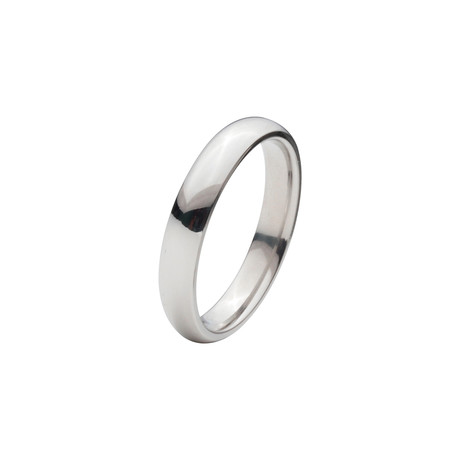 Titanium Polished Ring // 4mm (Size: 9)