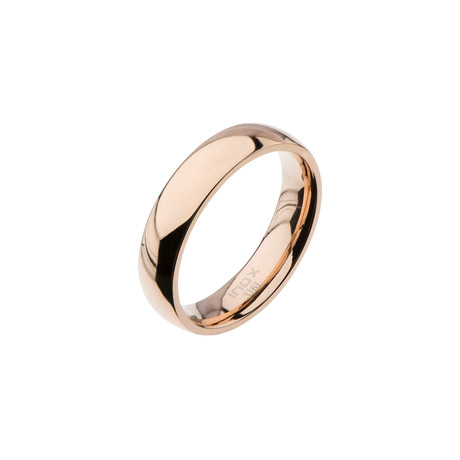 High Polished Rose Gold Ring // 6mm (Size: 9)